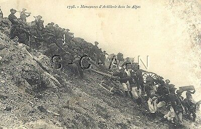 WWI Era Original Vintage French PC- Army- Elite Mountain Artillery- Cannon- Gun