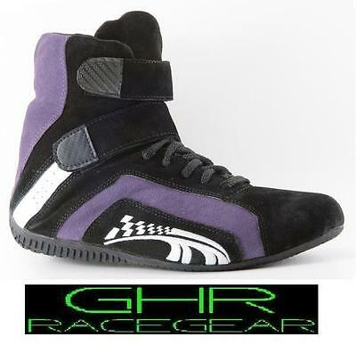 New Go Kart Race Boots Purple Type R 1-13 GHR Racer Motor Sport Racing Shoes CRG