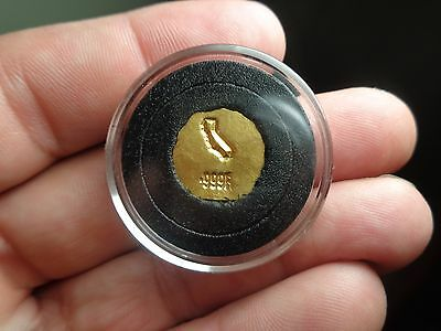 2.46 Gram .999 Gold. Hand Poured / Pounded Stamped California Outline        MFS