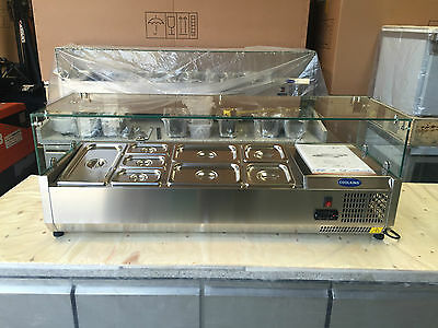 NEW 1.2m Stainless Steel PREP TOP Saladette with Glass top VRX1200/380 WARRANTY