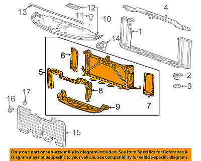 Outstanding Gmc Gm Oem 15 16 Yukon Radiator Core Support Mount Panel 23266741 Wiring 101 Archstreekradiomeanderfmnl