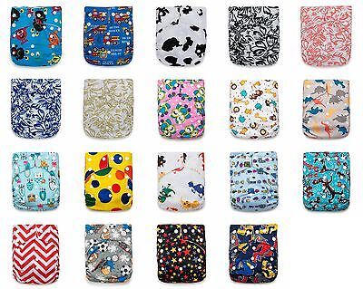12 KaWaii Baby One Size Goodnight Heavy Wetter Cloth Diapers 24 Large Inserts