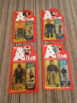 4 Galoob Vintage The A Team Carded Action Figure – Unopened