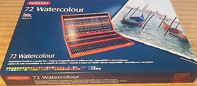 Derwent Watercolour 72 Pencil Wooden Box Set