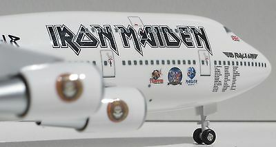 "1/200 Boeing 747-400 Iron Maiden ""Ed Force 1"" World Tour Qantas Virgin"