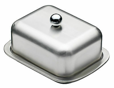 VonShef Butter Dish with Lid Stainless Steel Dishwasher Safe
