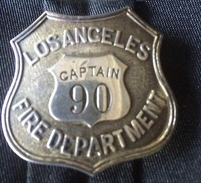 S1 Sterling Los Angeles City Fire Department Badge - C. Entenmann Jewelry Co.