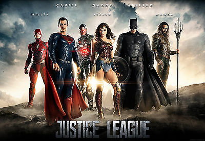 """The Justice League 2017 :Movie 27""""x40"""" POSTER VINYL HI-RES BANNER"""