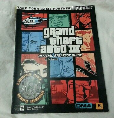 GTA 3 BRADYGames Strategy Guide PS2 Playstation 2 Official