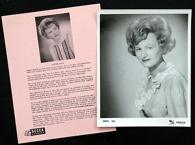 1960 Vintage CONNIE HALL Press Bio PUBLICITY PHOTO Country Music GRAND OLE OPRY