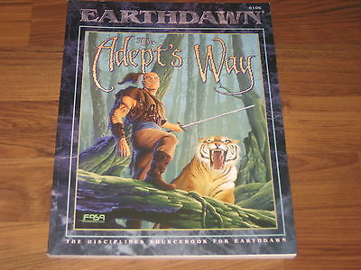 Earthdawn 1st Edition The Adept's Way Sourcebook 1995 Softcover FASA 6106