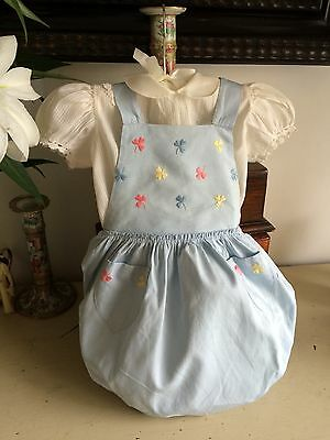 Vintage 1950s Baby's Puff Ball Romper Set Unused Swiss Designer Sturzenegger