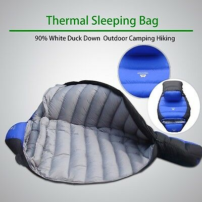 Winter -15°C*Thermal Sleeping Bag*90% White Duck Down*Outdoor Camping Hiking*Fr