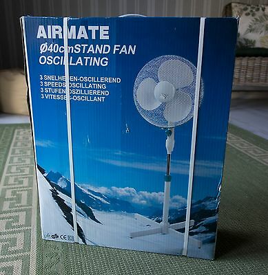 New 3 Speed 40cm Oscillating Stand Fan
