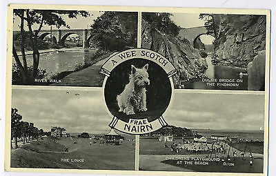 A Wee Scotch Frae Nairn Nairnshire Vintage Multi View Valentine Photo Postcard P