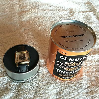 "Harley-Davidson Limited Edition OIL CAN WATCH - - ""RACING LEGACY"" - - New in box"
