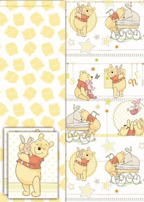 Winnie the poo gift wrap set wrapping paper, tissue and tag. New baby Unisex