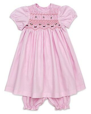 "Aurora Royal ""cotton Candy"" Pink Polycotton Hand-Smocked Embroidered Pyjamas"
