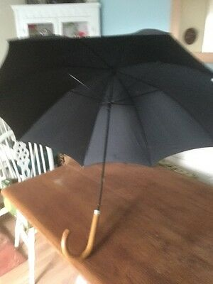 A Vintage Bhs Mens Umbrella Used In Good Order Missing Tip Free Uk P&p