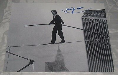 Philippe Petit Autographed Signed 8x10 Rare 'World Trade Center Walker' Photo #2