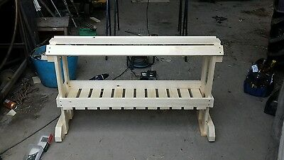 Double Wooden Saddle Stand