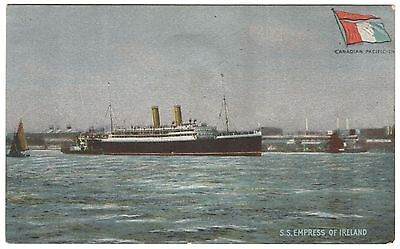 """Advertising Card: CANADIAN PACIFIC """"EMPRESS OF IRELAND,"""" CA. 1910, DISASTER"""