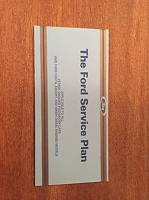 Escort Ford Service Book NOS Cosworth RS Turbo