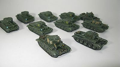 Flames of War British Cromwell/Challenger Light Tank Company (painted)