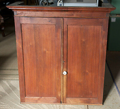 Small Walnut Bookcase Secretary Desk Top with Blind Doors in the Rough