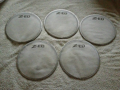 """5 Five Z-ED 8"""" Mesh Drum Heads Practice Kit or Electronic Kit Conversion"""