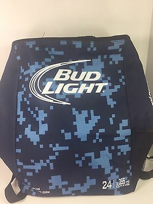 Bud Light Insulated Backpack Knapsack Cooler Bag - 24 Beer Can Promo - New