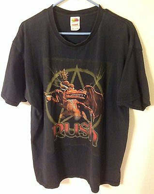 Rush 2004 30Th Anniversary Tour Concert Metal Black T-Shirt Mens Xl