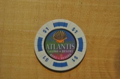 $1 Discontinued Casino Cash Chip From The Atlantis Casino, Reno-Nv