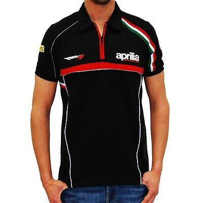 New Official Aprilia Racing Team Polo - Small,  Free Worldwide Shipping