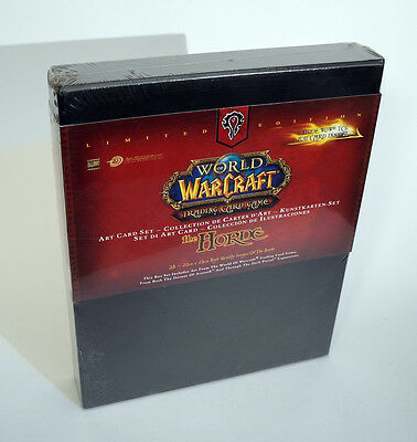 WORLD OF WARCRAFT Trading Card Game THE HORDE Art Card Set Limited NEW