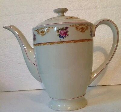 Vintage Hutschenreuther Hohenberg EVEYLN Germany Bavaria Large Coffee Pot Floral
