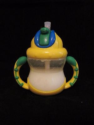 Reborn Baby doll Fake Faux yellow blue green straw toddler sippy cup w handles