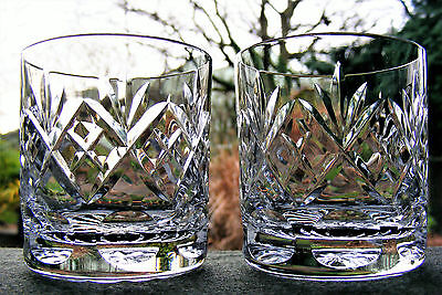 "Pair Of Royal Doulton ""georgian"" Old Fashioned 2 7/8"" Whisky Glasses"