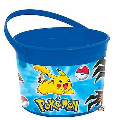 Pokemon Pikachu Plastic Favor Bucket Container ( 1pc )