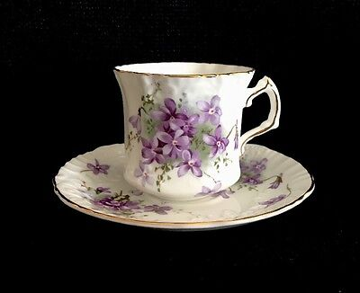 Hammersley Victorian Violet Tea Cup & Saucer Set(s) Type A Bone China England