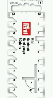 Prym Mini Hand Gauge  For Sewing&crafting Measuring Ruler Tool Brand New