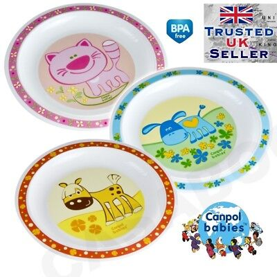 ANIMALS baby PLATE plastic colour free bpa