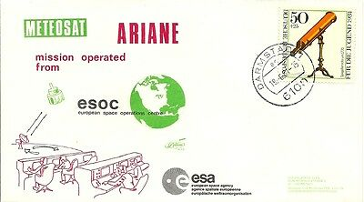 Ariane Meteosat Mission, Esoc, Lollini France Cover , Darmstadt Cancel