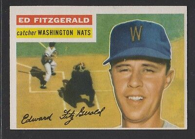 1956 Topps Baseball # 198  Ed  Fitzgerald  Exmt  Condition  Inv 8195