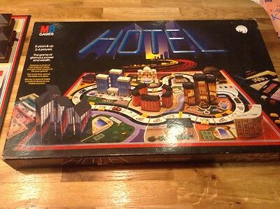 1986 HOTEL Board Game by MB GAMES Classic Retro Game