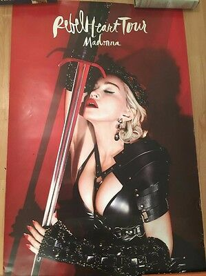 """Madonna 24x36"""" Poster Rebel Heart Tour 2015 Icon Live Pass VIP Package Gift."""