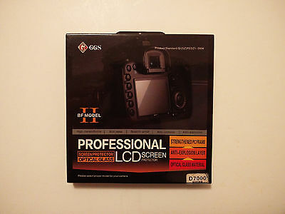 GGS II DSLR Brand New Ultra Thin Optical Glass LCD Screen Protector Nikon D7000