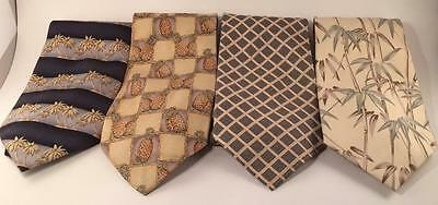 Lot Of 4 Tommy Bahama 100% Silk Neckties Ties Assorted Patterns/vintages