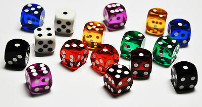 Quality 9/16 inch Backgammon Dice Sold by pairs