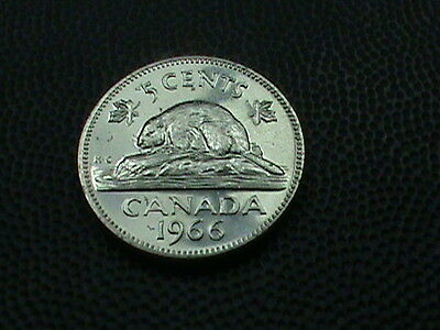 CANADA    5  cents   1965     PROOF   ,   BEAVER